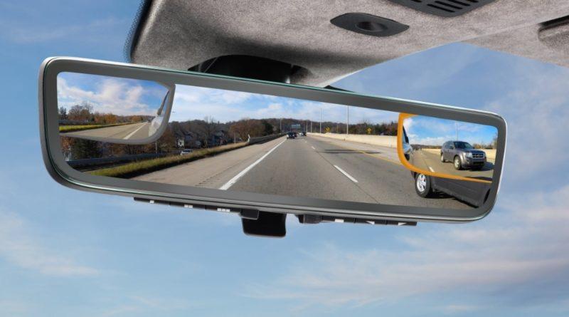 Vzvratno ogledalo avtomobila s tremi zasloni
